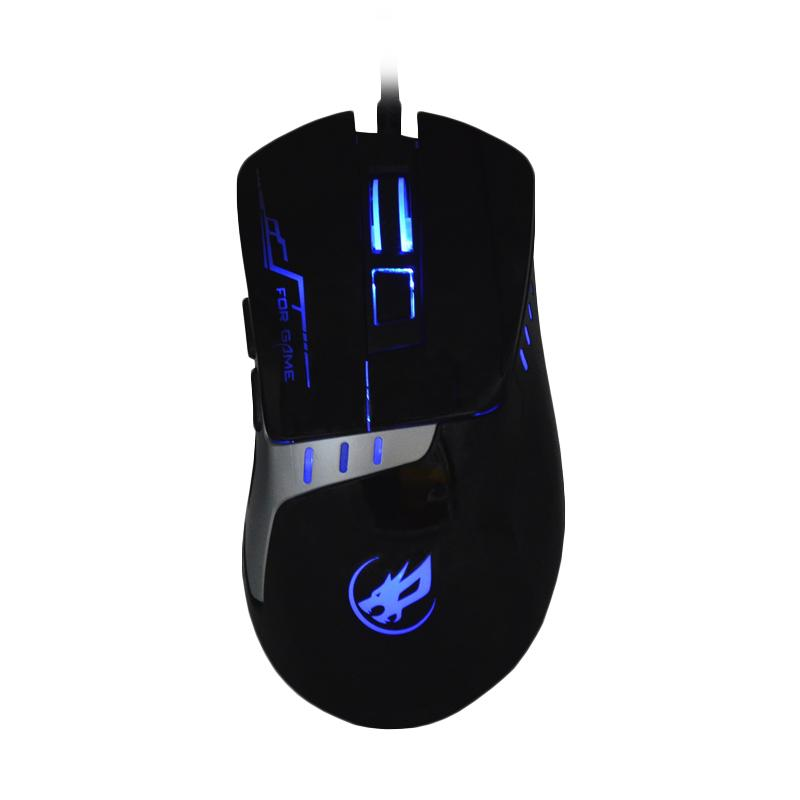 Warwolf T-2 Gaming Mouse - Hitam