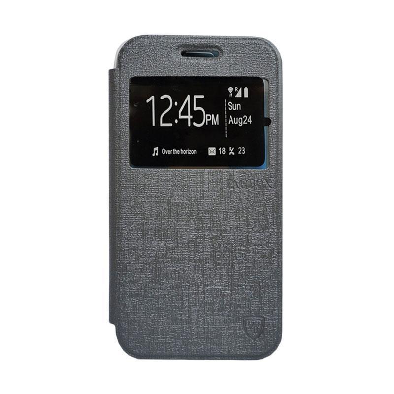 Zagbox Flip Cover Casing for Nokia N225 - Abu Abu