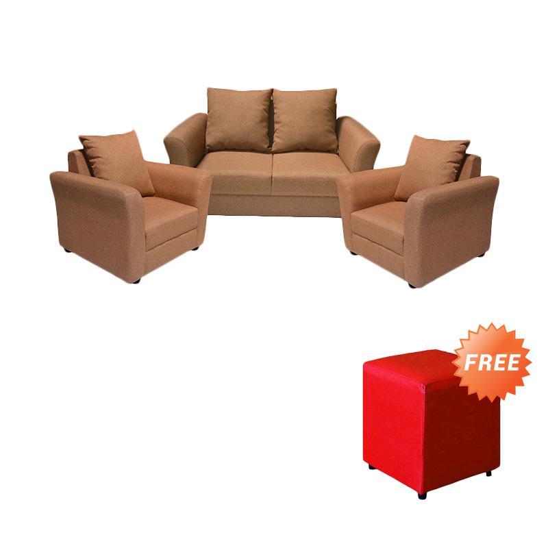 harga FCENTER Sofa 211 Aster + FREE PUFF [ JABODETABEK ] Blibli.com