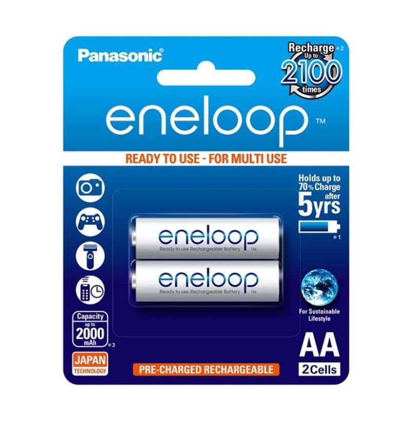 Panasonic Eneloop BK-3MCCE-2BT AA Baterai [2 Pcs]