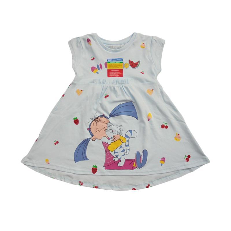 Piteku For You Dress Anak - Blue