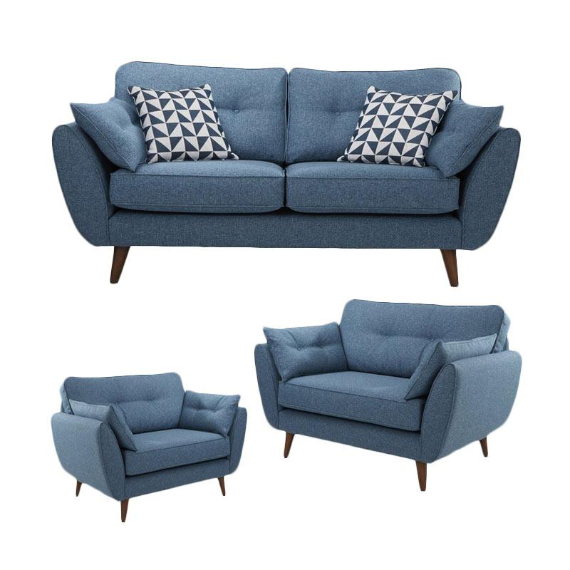 Malibu Sunmoon 211 Seater Sofa - Blue