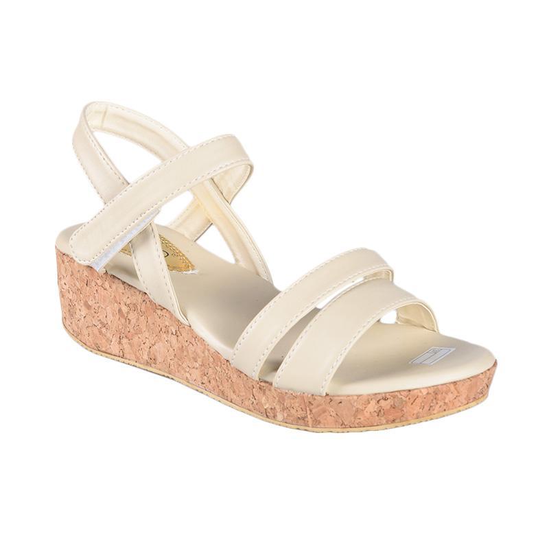FP - Rena SN-283 Sepatu Wedges Wanita - Cream