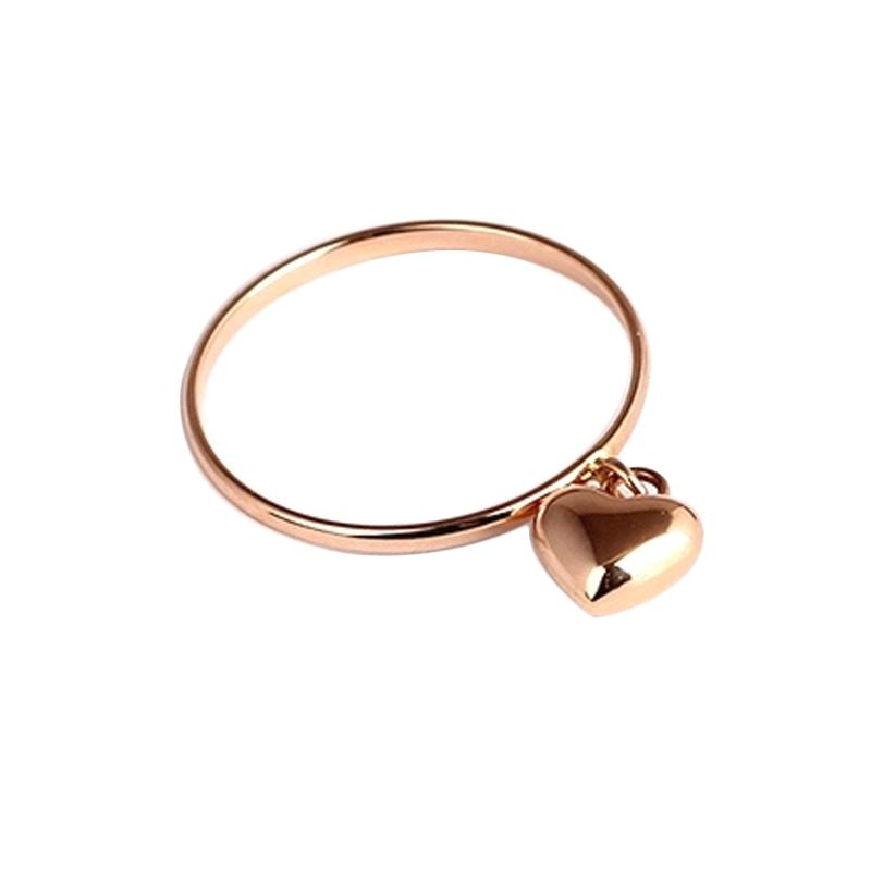 Tiaria Rose Gold Heart Ring Emas [18K]