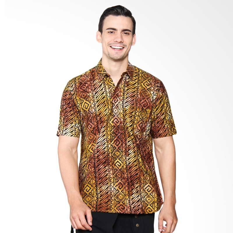 Blitique Amartha Kembang Slim Fit Pakaian Pria - Black 8C