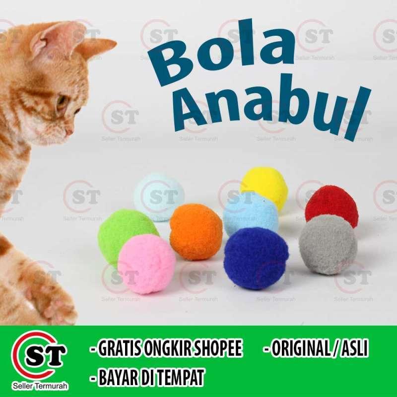 Mainan Kucing Bola Tanpa Krincing Mini Cat Toys Dog Toys Bola 1pcs Bola Kain