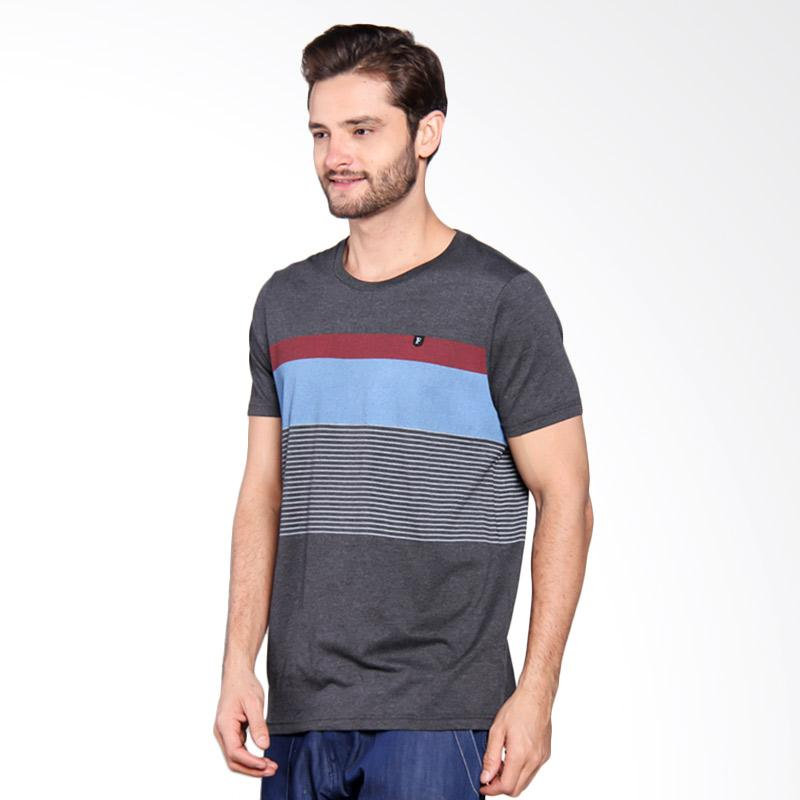 Famo Line Printed Basic Tee - Grey [501051712]