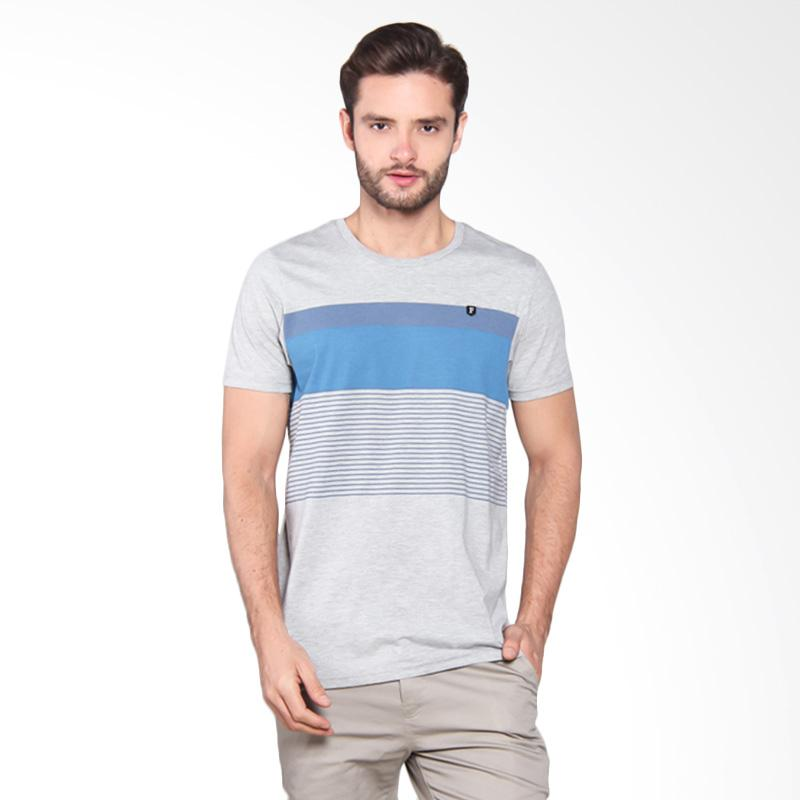 Famo Line Printed Basic Tee 2 - Grey [502051712]