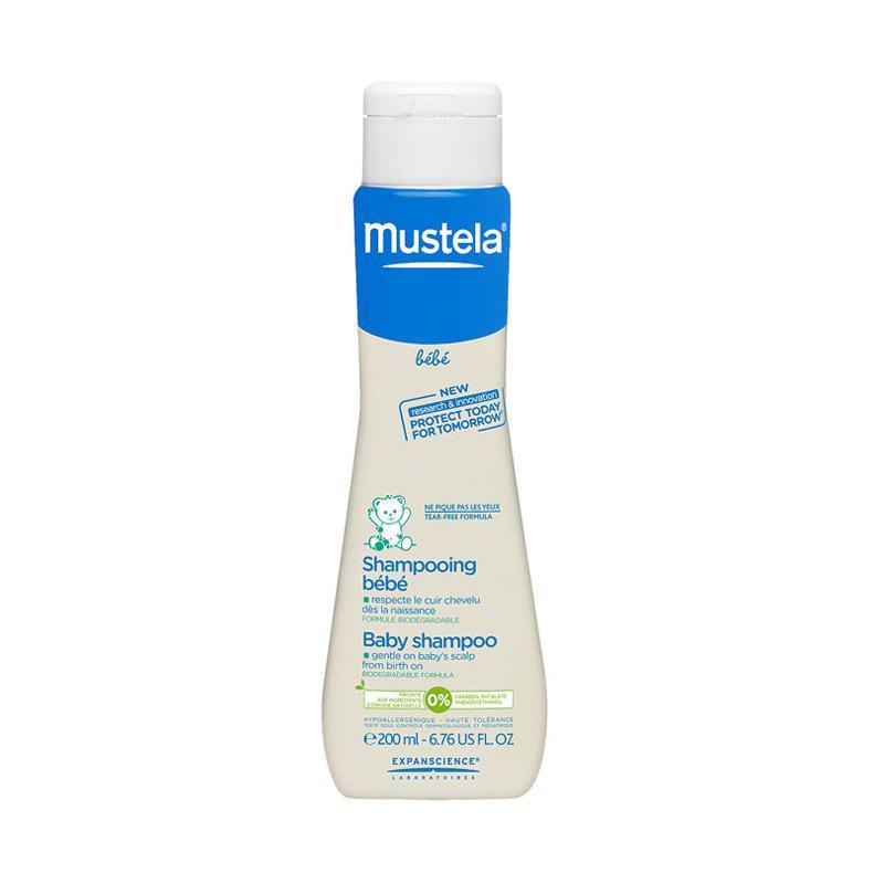 Mustela Bebe Shampoo 200ml Free Topi Bayi