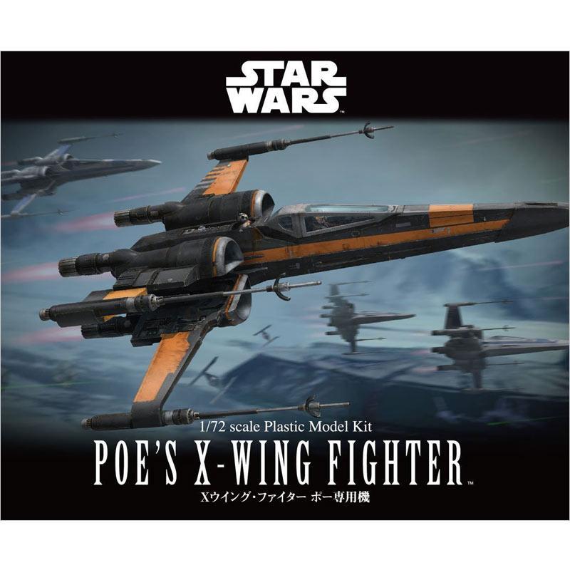Bandai Star Wars Poe's X Wing Starfighter Model Kit [1 : 72]