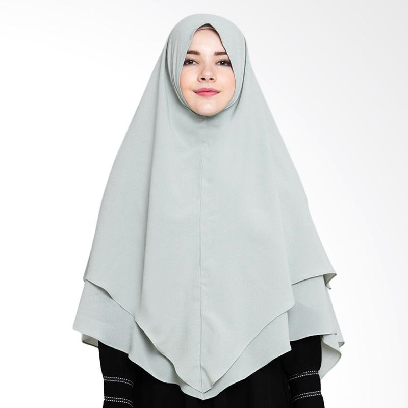 Allev Mai Khimar Jilbab Instant - Green Grey