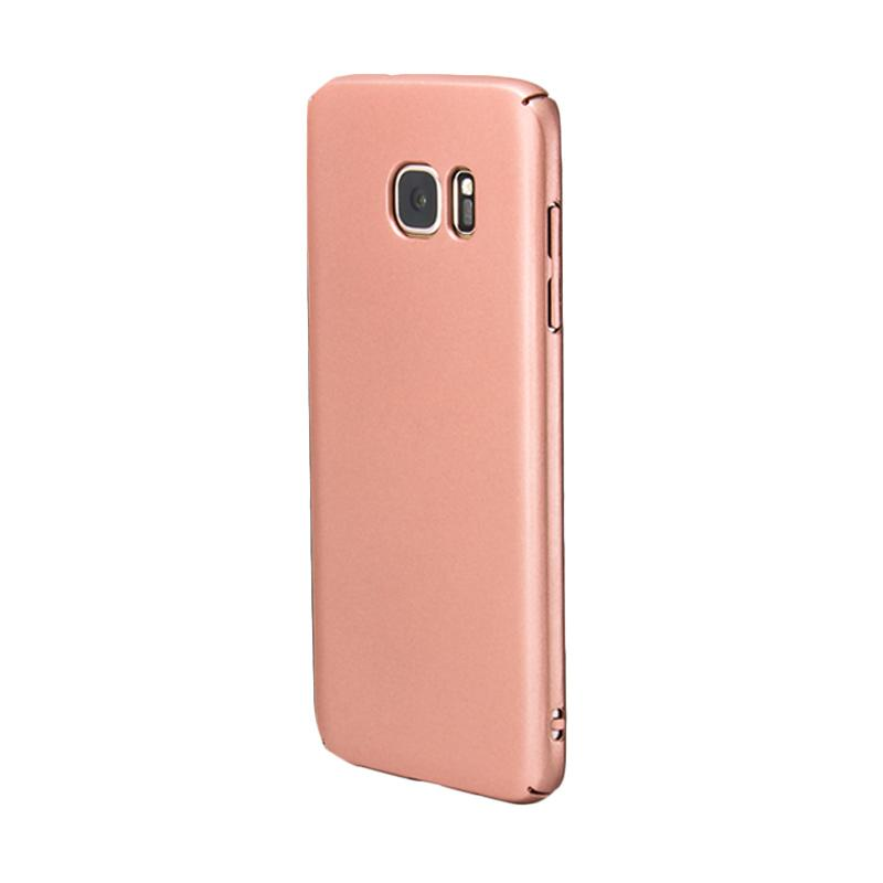 Fashion Baby Skin Ultra Thin Hardcase Casing for Samsung S7 EDGE - Rose Gold