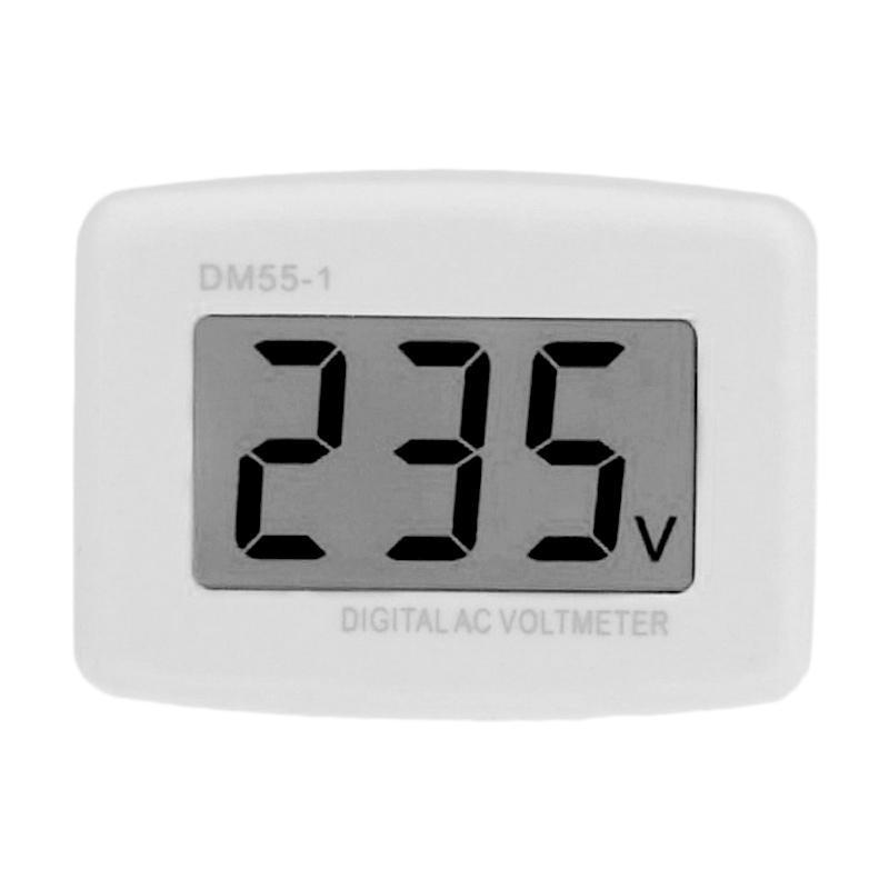 harga Universal Voltmeter Digital AC EU Plug 110-300V / Alat Pengukur Listrik - White Blibli.com