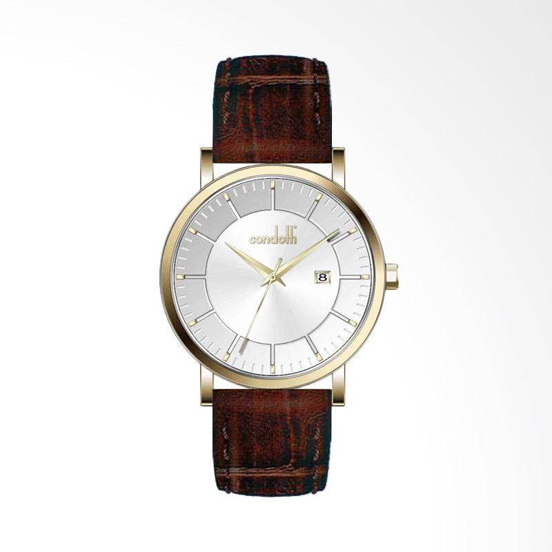 Condotti CN1029-G02-L05 Leather Jam Tangan - Brown