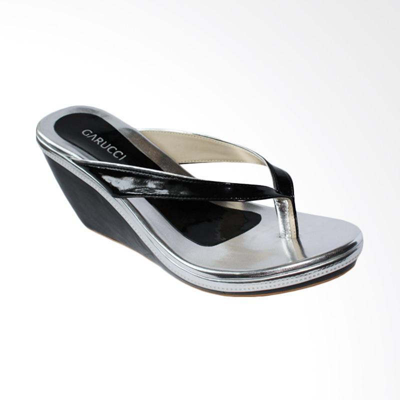 Garucci GMA 5125 Sandal Wedges - Black