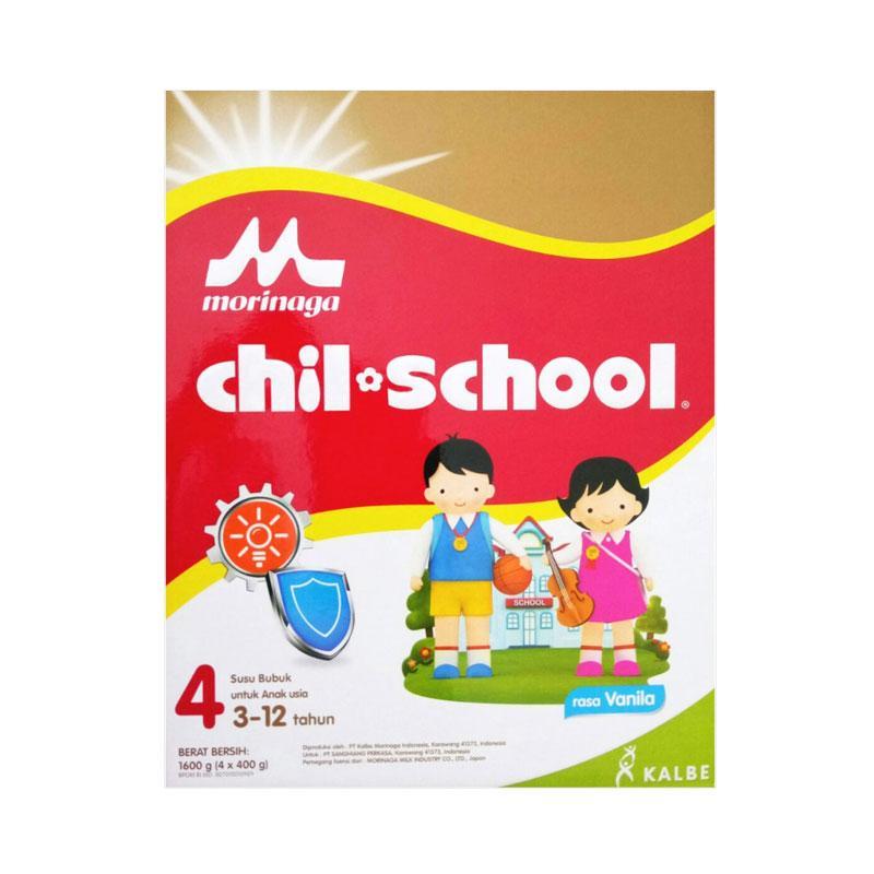 Morinaga Chil School Tahap 4 Susu Formula - Vanila [Box/ 1600 g]