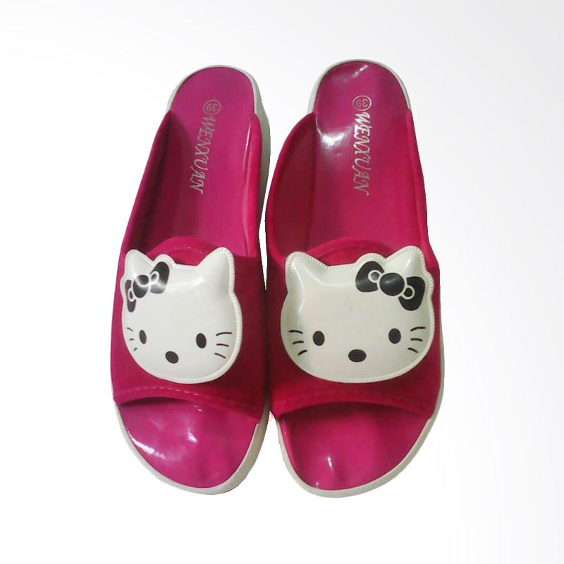 Hello Kitty Sandal Black Ribbon HK - Pink