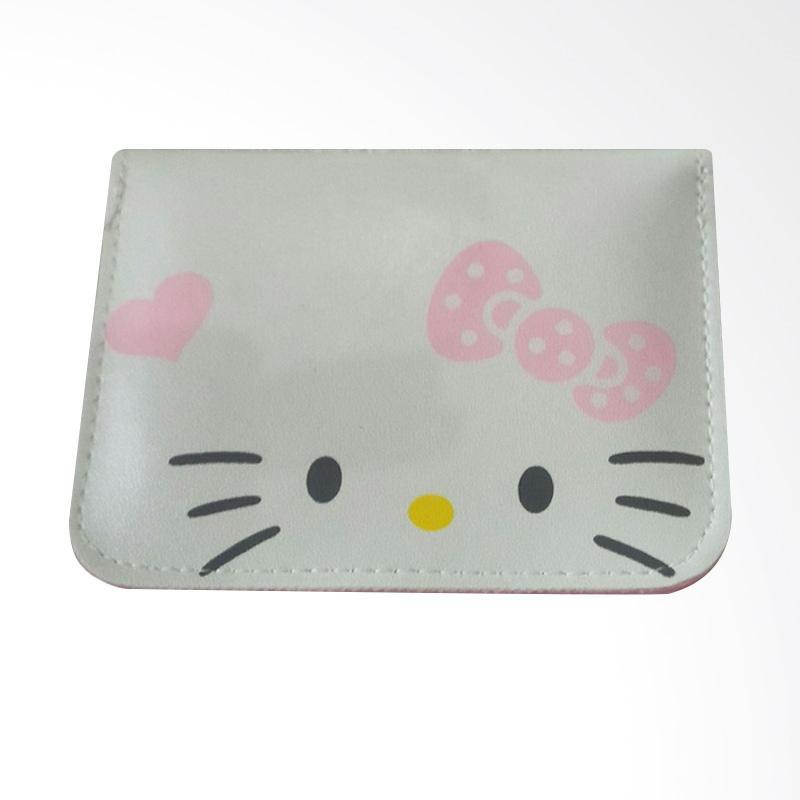 Hello Kitty Polka Ribbon HK Open Dompet Kartu - Putih Pink