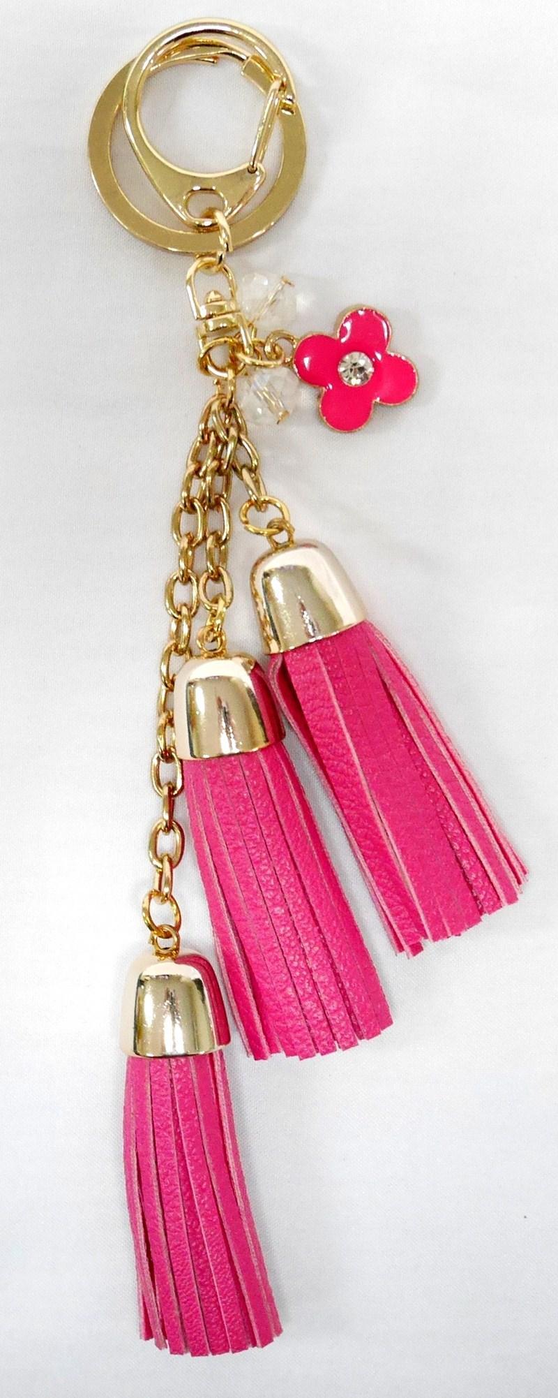 SIV Key Chain KM06 Rumbai 3 Tingkat plus Bunga Gantungan Kunci - Pink