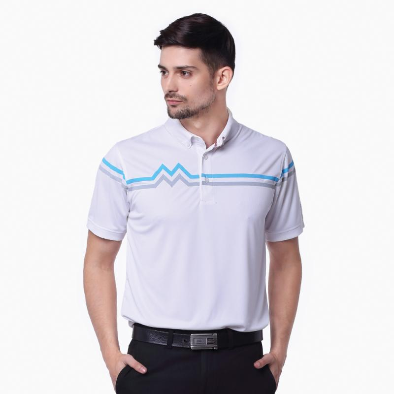 Svingolf M & M Polo Pakaian Golf Pria - White