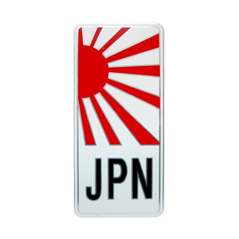 SIV EMB-P08 Matahari Terbit Japan Emblem Universal Plat Nomor for Mobil or Motor