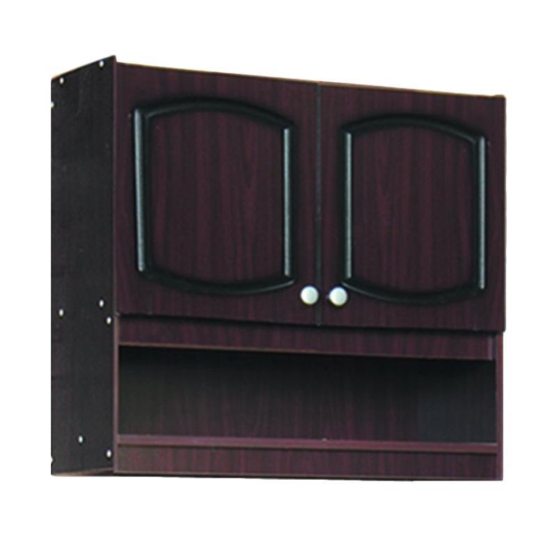 Kirana KKA 912 Furniture Kitchen Set Lemari Atas - Dark Mahogany [2 Pintu]