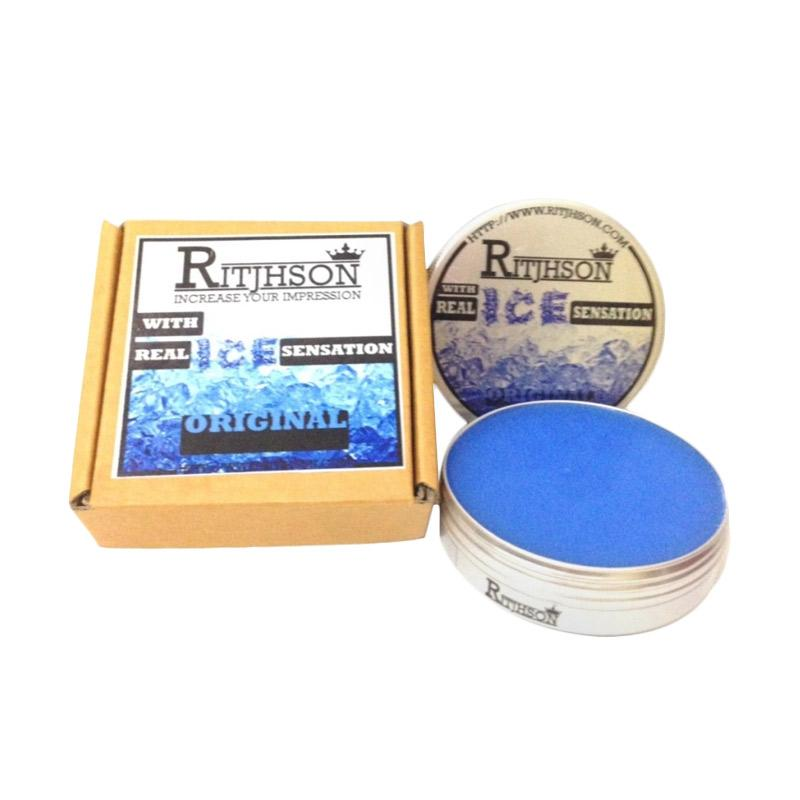 Ritjhson Ice Original Mint Light Hold Oilbased Pomade [Edisi Wadah Kaleng]