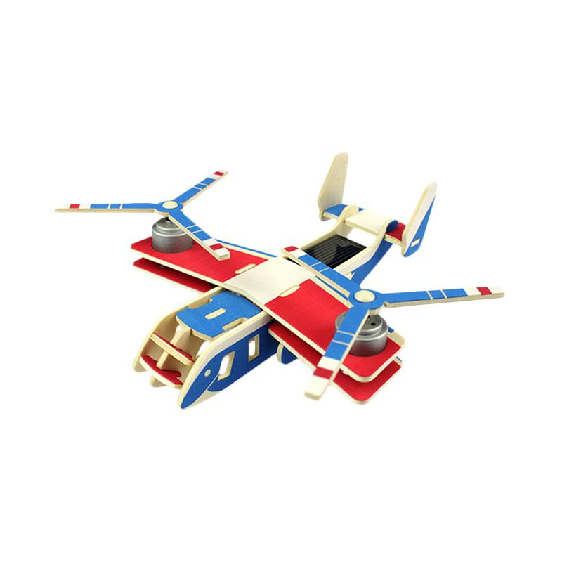 Robotime DIY 3 Wooden Puzzle Solar Airplane Series Osprey P310 - Multicolor