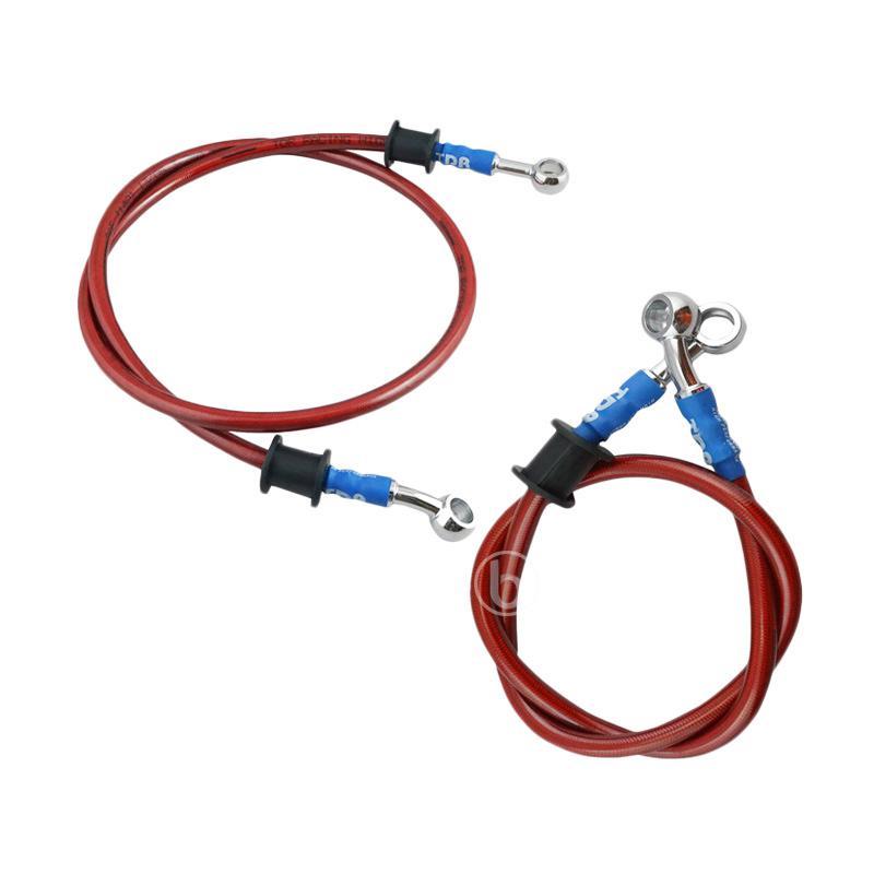 Jual TDR Kabel Selang Minyak Rem Depan Belakang for CB 150R - Merah [Depan 90 cm dan Belakang 60 cm] Online - Harga & Kualitas Terjamin | Blibli.com
