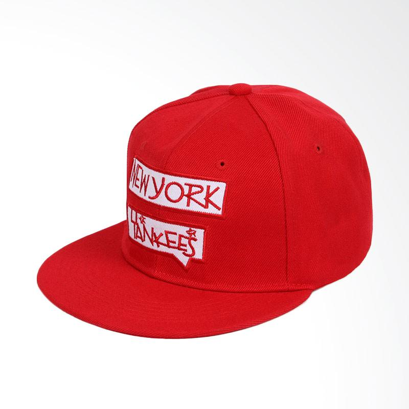 JersiClothing New York Yankees Snapback Topi Pria - Red a5c3823375
