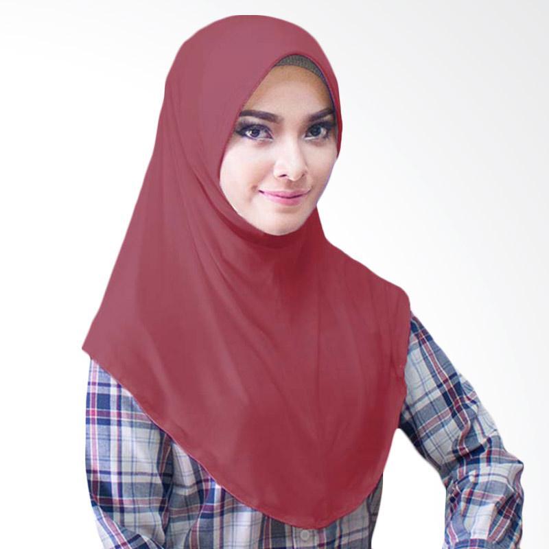 Milyarda Hijab Bergo Jersey Jilbab Instan - Maroon