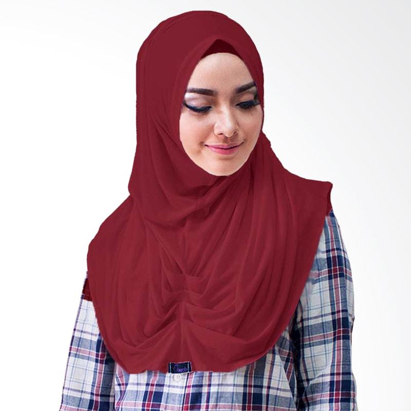 Milyarda Hijab Loly Jilbab Instant - Maroon