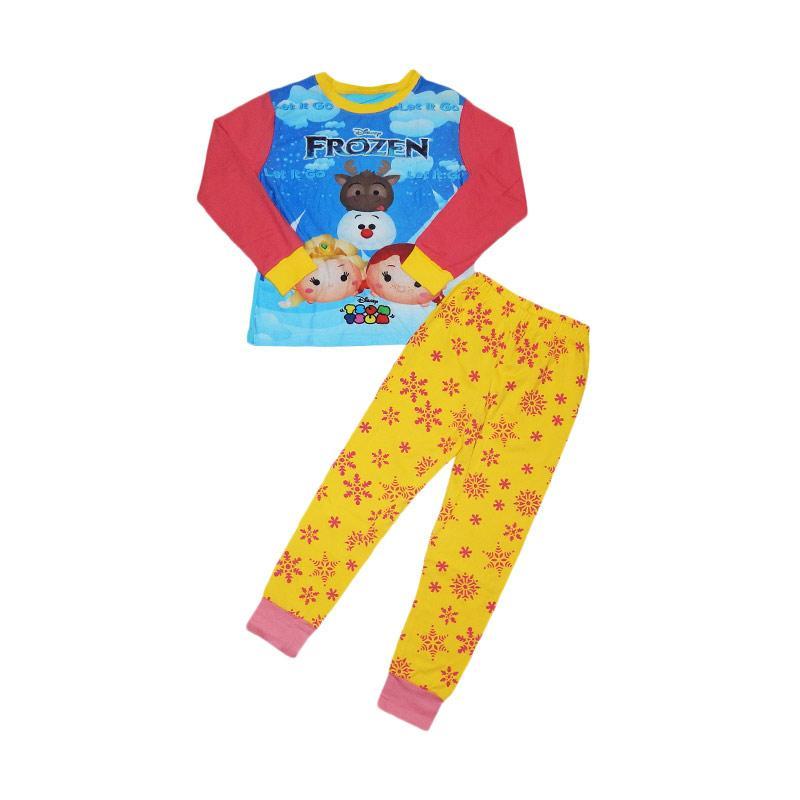 Wonderland Junior Wardrobe Frozen Tsum Tsum Pajamas Setelan Baju Tidur Anak