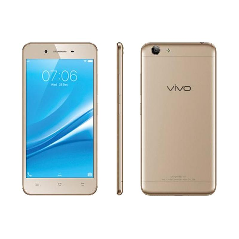 Vivo Y53 Smartphone - Gold [16GB/2GB] Free Original Tupperware 750 Mililiter & I-Ring