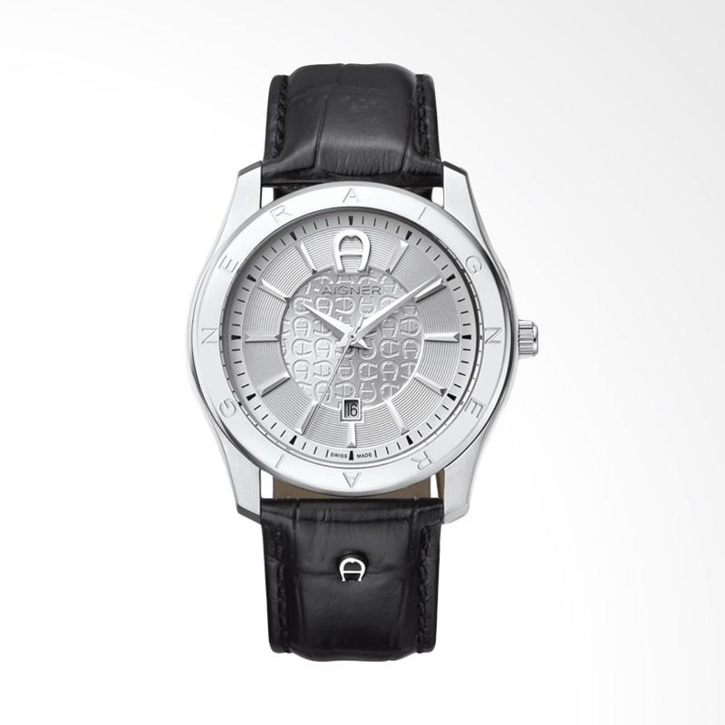 Aigner Lazio II Jam Tangan Pria - Black Silver AGA32189A