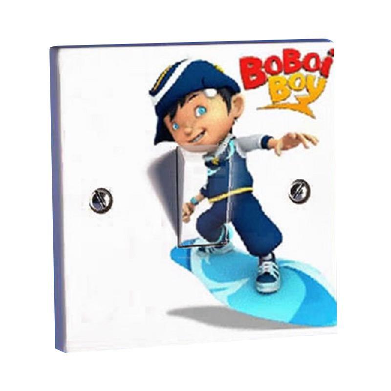 OEM Boboi Boy Skating Stiker Tombol Lampu Saklar - Biru