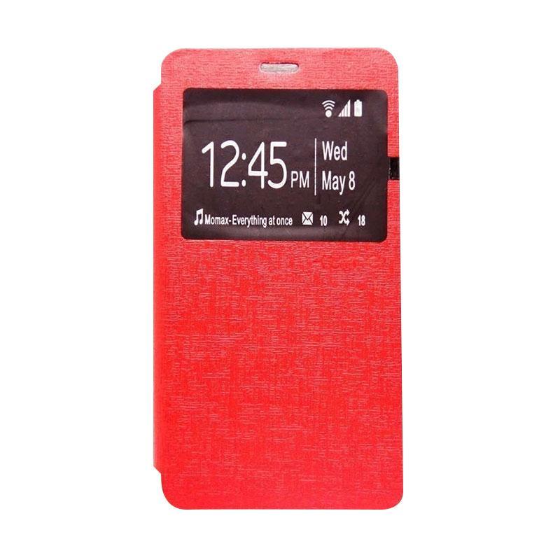 Ume Window Flip Cover Casing for Xiaomi Redmi 4A - Merah