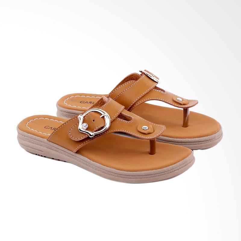 Garucci GSR 8117 Flats Sandal Wanita - Tan
