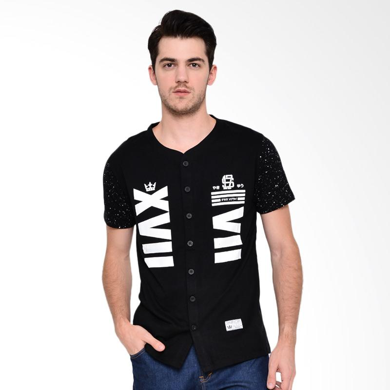 17seven Original Jersey 17 T-shirt Pria - Black