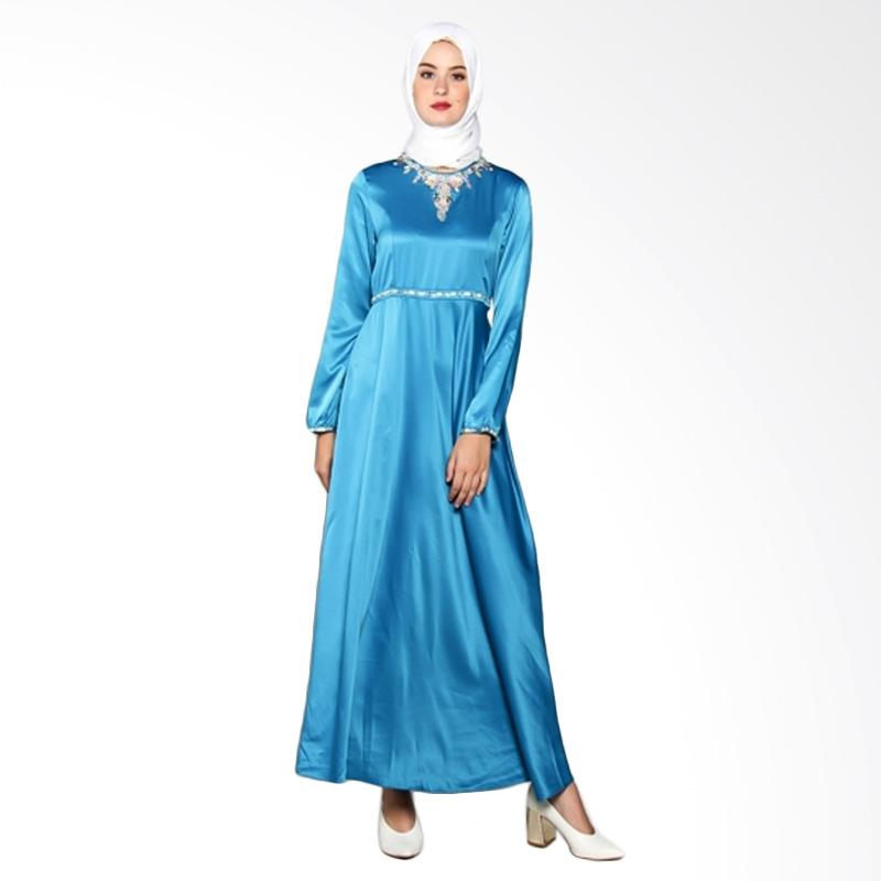 Yanna Azwar Amanda New Dress Muslim - Blue Tosca