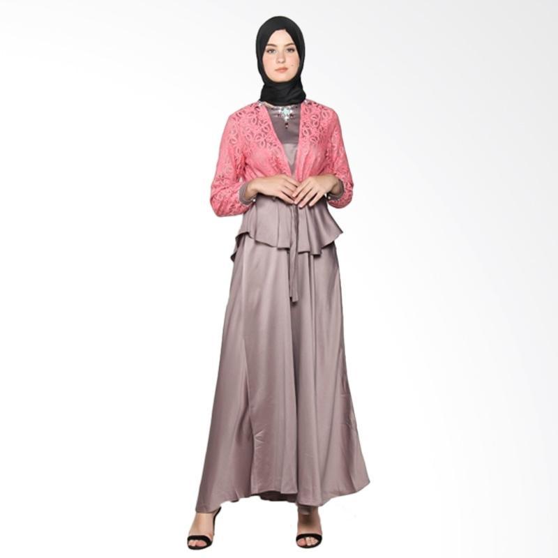 Yanna Azwar Malika Dress Muslim - Grey