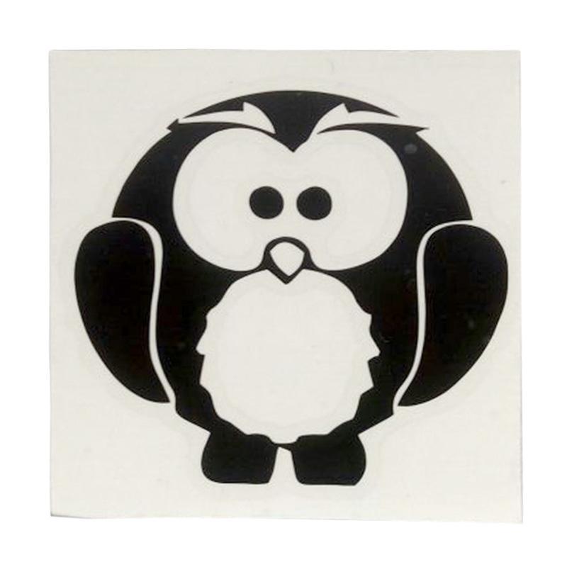 Wallstiker Stiker Saklar Lampu Motif Little Owl Burung Hantu Kecil