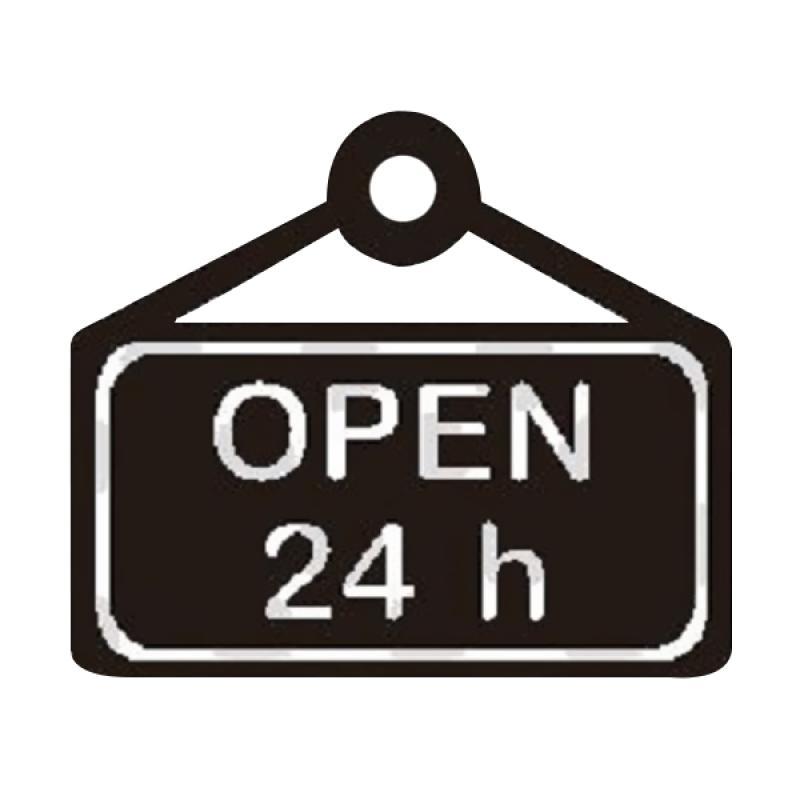 OEM Open 24 Hours Wall Sticker Dekorasi Dinding