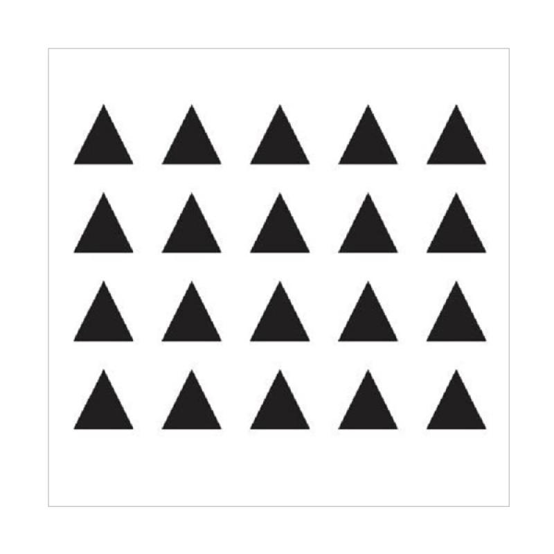 20 pc Wall Sticker Segitiga Cutting Stiker Dekorasi Dinding Rumah Kamar
