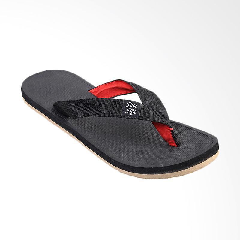 Tendencies Lining Sandal Pria - Red Black