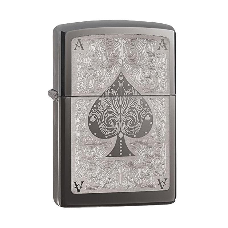Zippo Spade Card Pocket Lighter - Black Ice