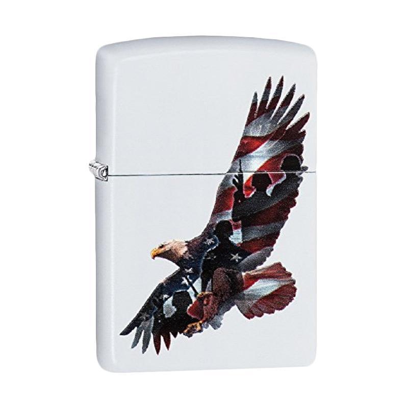 Zippo Eagle & Soldier Pocket Lighter - White Matte