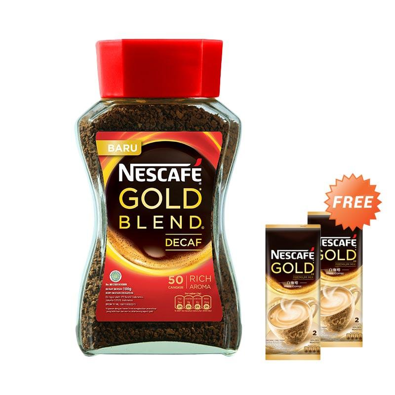 harga Nescafe Gold Decaffein Jar ID [100 g] + Free Nescafe Gold Premium Mix Bag [2 x 24 g] Blibli.com