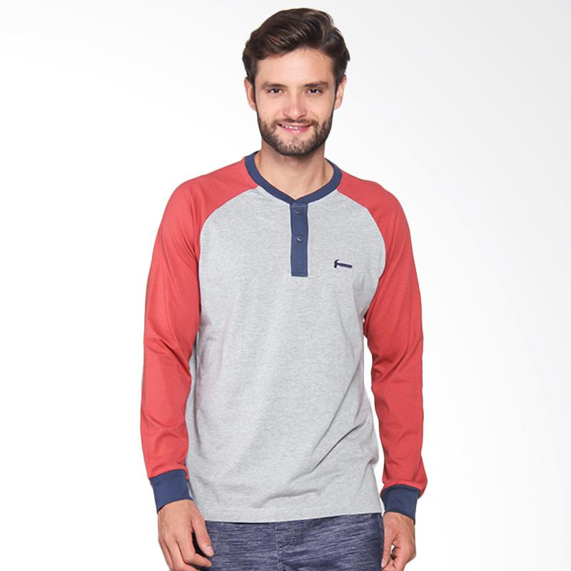 Hammer Men Henley Fashion Pakaian Pria - M71 / T. Spice I1HF043A1