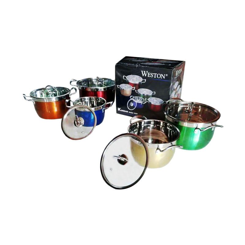 Weston Stainless Rainbow Set Panci [5 pcs]